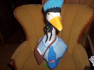 Mailman Geese Goose Dress Outfit Crochet Handmade Yarn Goose Clothes