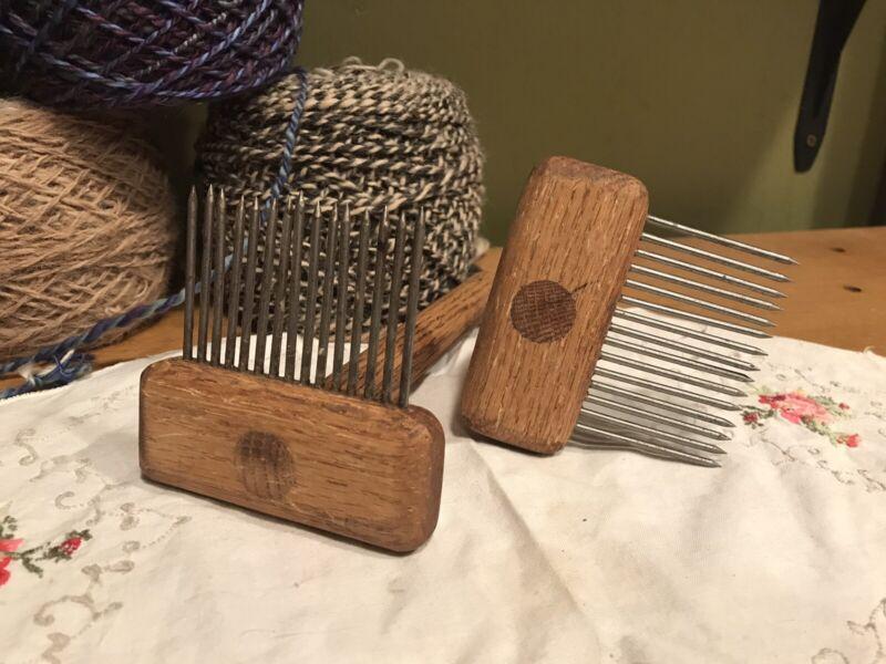 wool carding combs Spinning Wheel Fiber Artist Combs