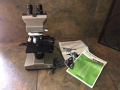 Olympus Ch Binocular Microscope W 10x 40x 100x Objectives 10x Eyepieces Euc