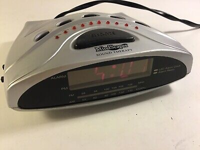 Mindscapes Sound Therapy 10 Sounds FM/AM Alarm Clock Radio Soothing Sleep Sounds