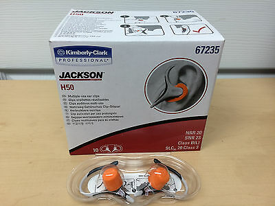 10 Pair Case Jackson Safety H50 Ear Clips Uncorded Reusable Ear Plugs Nrr 20
