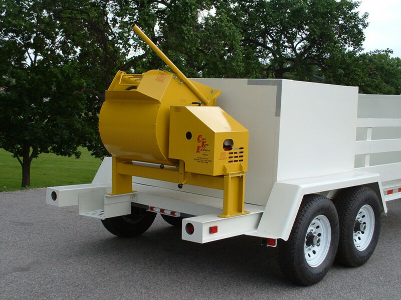 NEW  9 cubic foot Mortar/Cement Mixer from Curb King, 5.5 hp honda, gearless