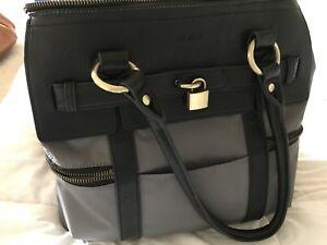 Diaper Satchel Bag (Black and Grey)