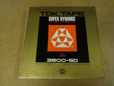 """10"""" (26,50 CM) METAL REEL TAPE TDK PROFESSIONAL IN ORIGINAL BOX"""