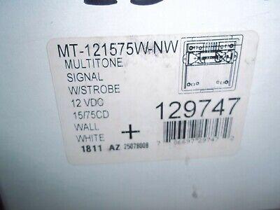 Wheelock Mt-121575w-nw 129747 Fire Alarm Strobe