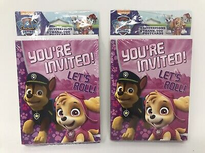 Paw Patrol Party Invites (Paw Patrol Birthday Party Invitations And Thank You Card Combo  16)