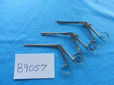 V. Mueller Richards Codman Surgical Ent Forceps Lot Of 3