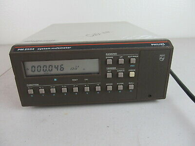 Philips Pm2534 System Multimeter Bench Top Dmm