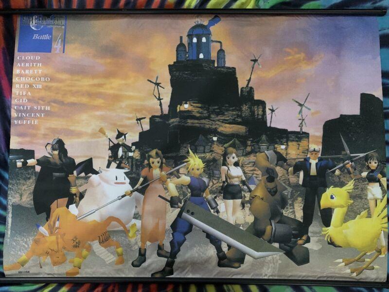 Final Fantasy 7 Wall Scroll / Tapestry (Original Release 1997-98ish)