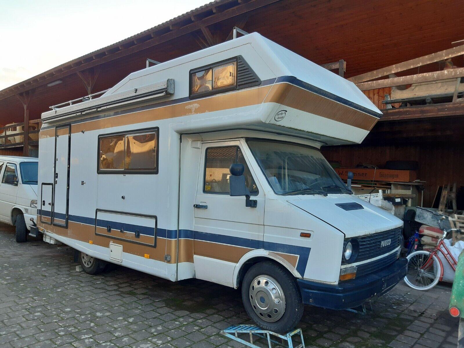 Wohnmobil Iveco Daily 2,5TD Niesmann+Bischoff Clou 570 Oldtimer Diesel, LPG Tank