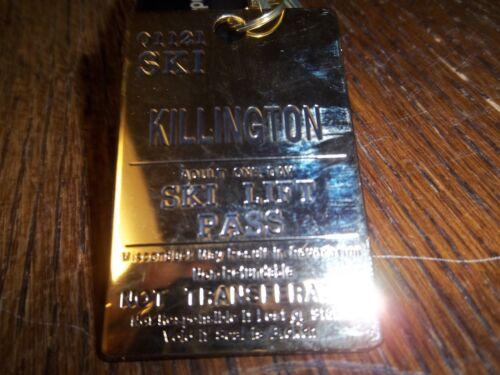 VINTAGE KILLINGTON SKI AREA LIFT TICKET  KEY RING 1 1/2 BY 2 1/4 INCHES
