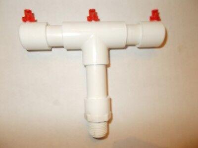 "Aeroponic Hydroponic Cloner 3 Mister Water Spray Bar Manifold EZ Clone Cloner 6"""