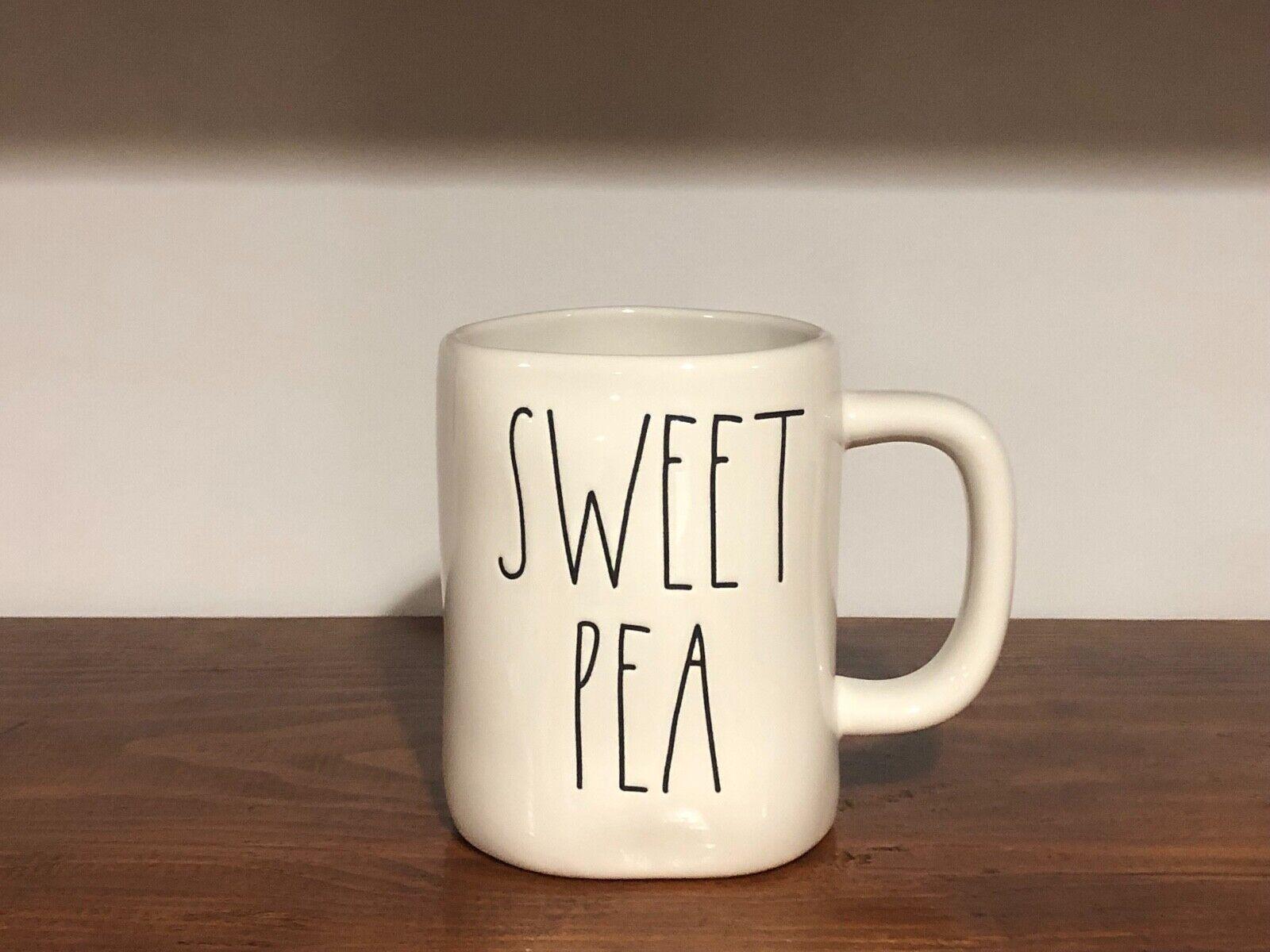 Rae Dunn Artisan Collection By Magenta Farmhouse LL Large Letter Coffee Tea Mug SWEET PEA