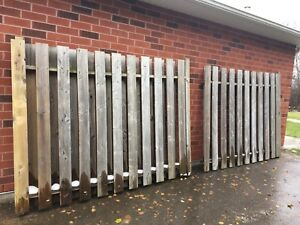 Fence privacy screen panels.  X2