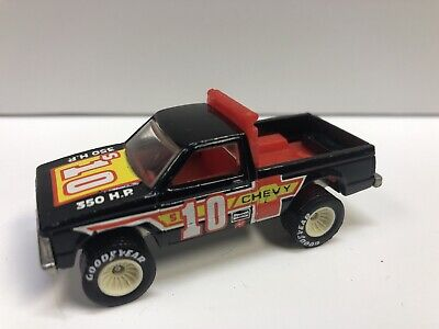 HOT WHEELS 1982 CHEVY S-10 BLACK, GOOD YEAR REAL RIDERS, 30TH ANNIVERSARY MATTEL