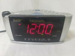 Emerson Research Smartset Digital AM/FM Radio Alarm Projector Clock CKS3528 EUC