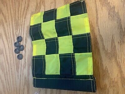 9 Standard Golf Tube Small Checkered Flags Placement Pin Par-aide W 5 Grommets