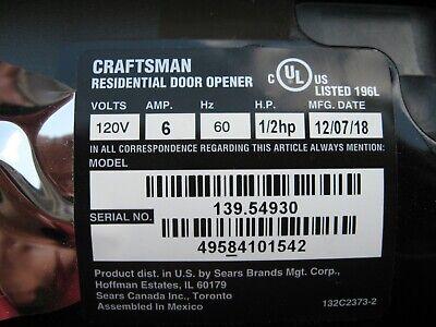 Craftsman 041A5484 Garage Door Opener End Panel