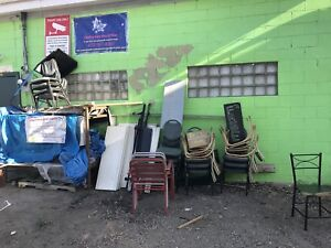 Free chairs, box springs, bed frames and such