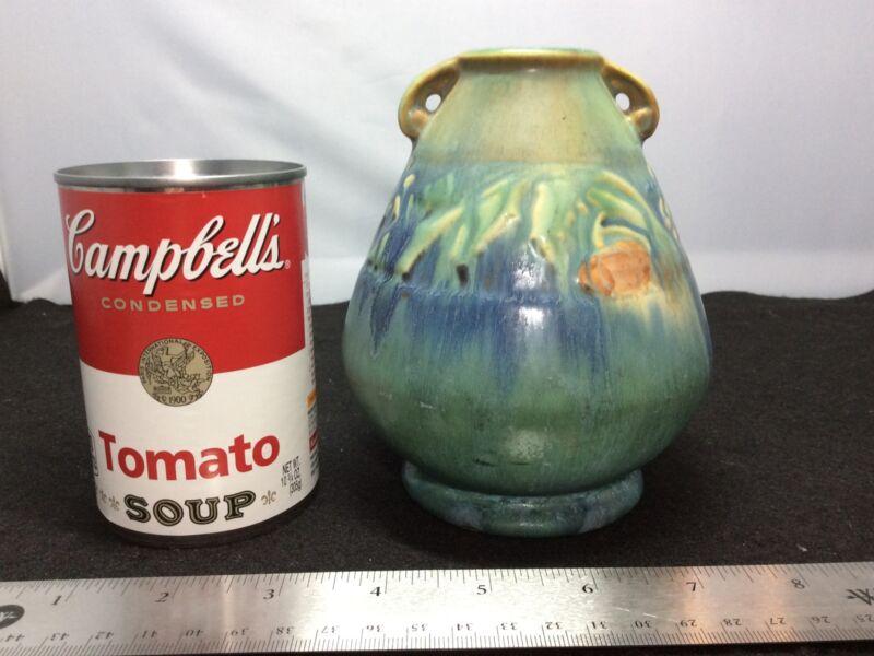 Vintage Roseville Pottery Green Baneda Vase, 601-5
