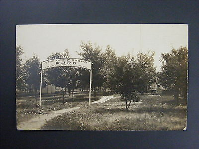Thompsonville Michigan Mi Geo W Sharp Park Real Photo Postcard Rppc C 1910