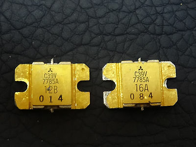Lot Of 2 Pcs 7785a C39v Mitsubishi Microwave Power Transistors Used Gold Plated