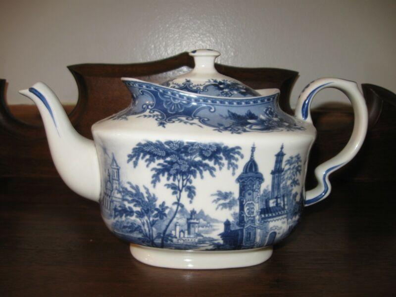 Blue and White Transferware Teapot  Madison Bay Co.