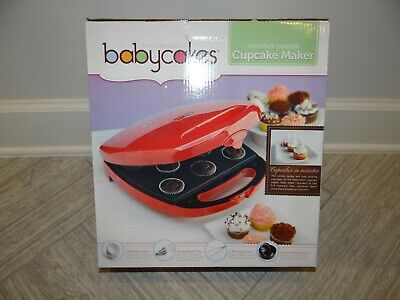 Babycakes Cupcake Maker CC-96RD Non Stick Coating New Red Baby Cakes  segunda mano  Embacar hacia Mexico