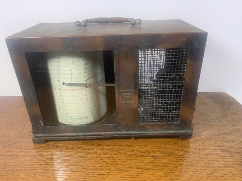 """Vint Short and Mason Theromography Machine  """"Tycos"""" Chart No 46 Taylor Cylinder"""