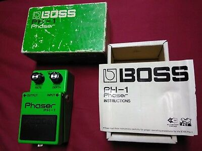 Boss PH-1 Phaser Vintage 9500 Silver Screw Japan with Box and Instructions