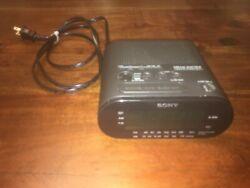 TESTED MINT Sony ICF-C218 Dream Machine Alarm Clock Radio (Black) Auto Time Set