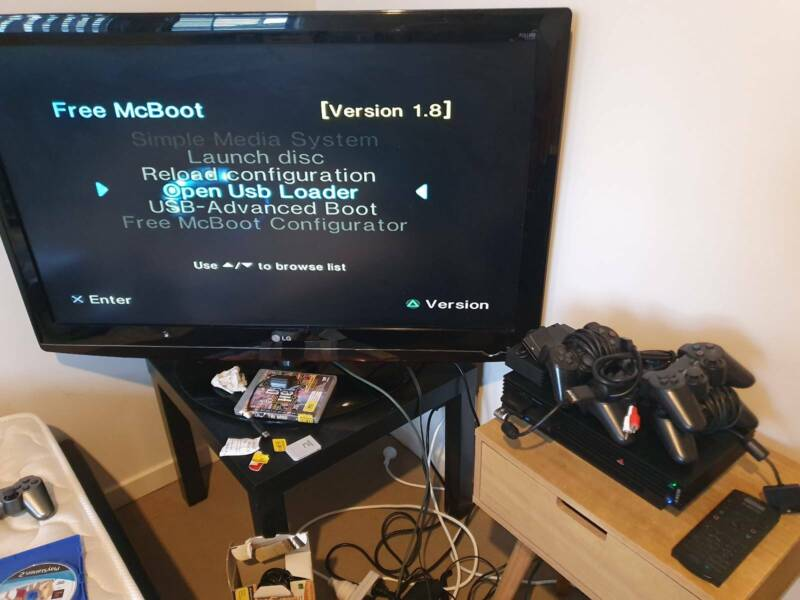 Sony Playstation 2 PS2 Console Softmodded Phat | Playstation