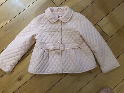girls pink quilted il gufo jacket age 5