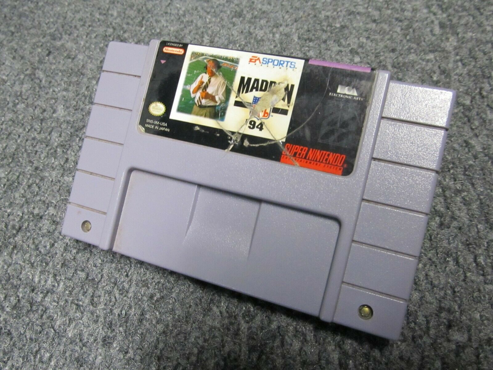 Madden NFL 94 Super Nintendo Entertainment System, 1993 Tested Cleaned - $2.99