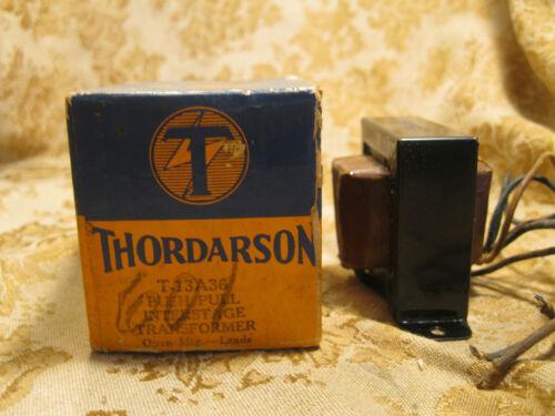 NOS NIB THORDARSON Push Pull Interstage TRANSFORMER T-13A36