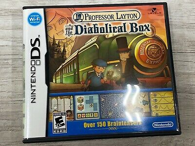 Professor Layton and the Diabolical Box Nintendo DS Complete With Manual