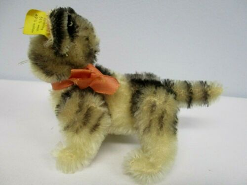 VINTAGE GERMAN STEIFF MOHAIR KITTY THE CAT with ALL ID