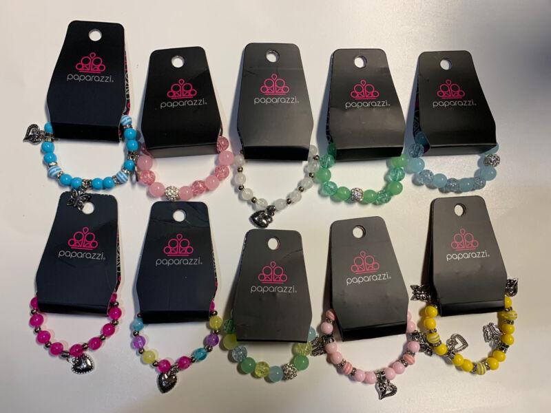 "Paparazzi - Starlet Shimmer - Bracelets -  Kids - Lot of 10 - Pack 13- ""NEW"" Nwr"