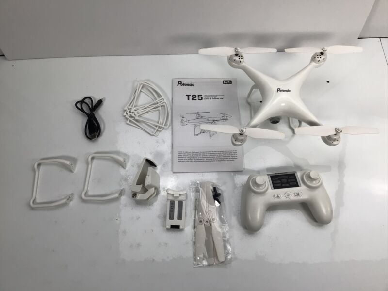 Potensic T25 GPS Drone, FPV Drone with Camera 1080P, White