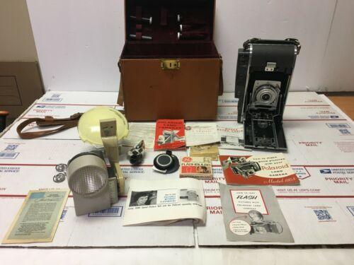 Polaroid  110A Land Camera with Rodenstock-Ysarex 127mm Lens & Accessories