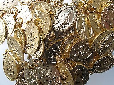 Wundertätige-wunderbare-medaille 2,2 cm 10 Pcs Medals Aluminium Golden