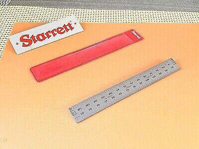 Starrett No.c635e-150 150mm  Spring-tempered Steel Rule Mm And 12mm Grad. Usa