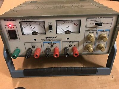 Tektronix Cps250 Triple Output Dc Power Supply 1x 5v 2a 2x Variable 20v 0.5a