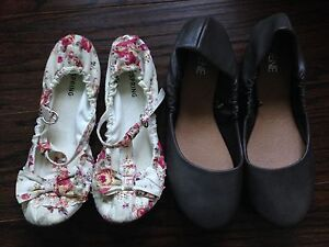 Spring Shoes and Ardenes Flats Size 6