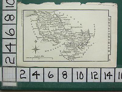 c1833 GEORGIAN DATED MAP ~ DENBIGHSHIRE ~