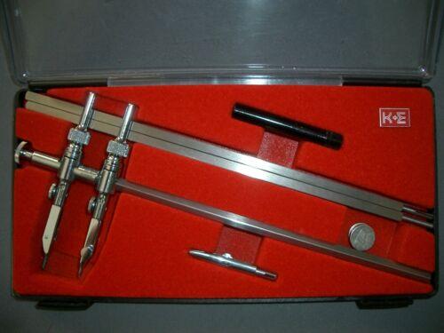 K&E Keuffel & Esser Drafting Tool Mark 1 Beam Compass 55 1806, Mint Condition