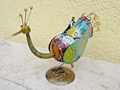 Pfau Vogel Metall Dekoration Garten Geschenk Idee In- Outdoor Handwerkskunst  ()