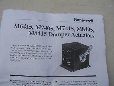 Honeywell M7415b1004 - 24v Modulating Spring Return Damper Actuator Cw Rota