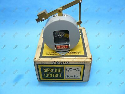 Mercoid 40-2-R6 Lever Operated Liquid Level Float Control 10A 120V 5A 240V New Level 2 Lever