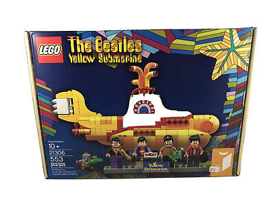 LEGO Ideas Beatles Yellow Submarine 21306 2016 4 Mini Figure Paul Ringo John B